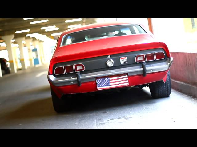 Ford Maverick com Flowmasters - ronco do motor