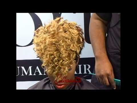 Hair Styling video with Silhouette New Deep Wave Hair and Remy Forte Hair Weave