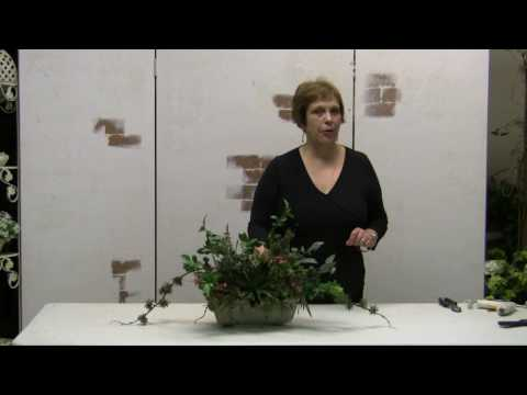 How To Make A Dish Garden Arrangement Using Silk Flowers