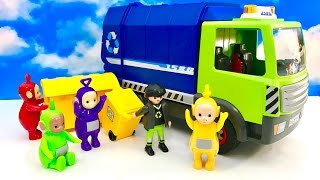 Teletubbies toys and heavy work on garbage :)