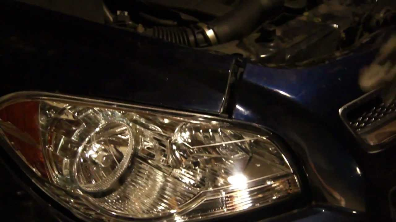 How To Replace Headlamp Or Headlights On 2008 2009 2010