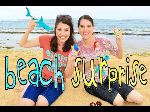 Surprise Toy Hunt at Beach AllToyColllector DisneyCarToys Surprises Egg Video Giant Beach Toys Water