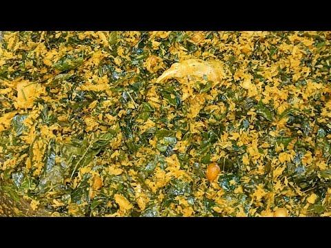 మునగాకు కొబ్బరి కూర/Munagaku kobbari kura/Drumstick leaves coconut curry