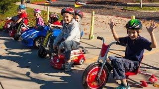 Razor Crazy Cart vs Power Rider 360 vs SRT Viper vs Mini Racers Big Race!
