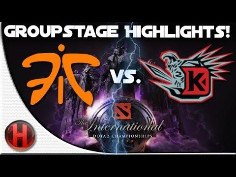 Dota 2 - #TI4 Fnatic vs Team DK - Highlights [Groupstage]