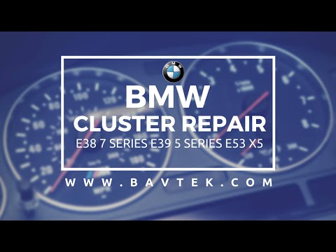 BMW Speedometer Repair Service Pixel Fix OBC Cluster E38 E39 E53 X5 DIY