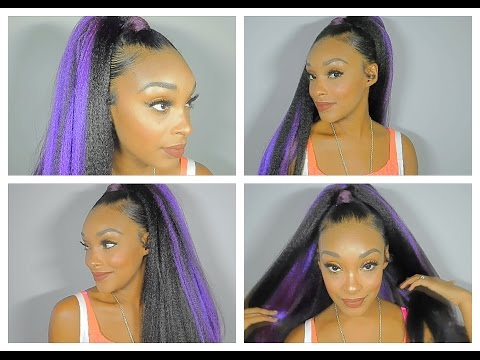 Faux Nicki Minaj Inspired High Ponytail Tutorial Using 100% Kanekalon Braiding Hair