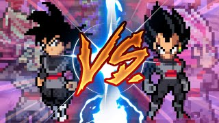 Sprite animation- Goku black vs Vegeta black!!!! (Android)