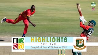 Zimbabwe vs Bangladesh Highlights | 3rd T20i | Bangladesh tour of Zimbabwe 2021