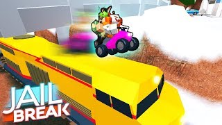 Driving The ATV On The Train! Roblox Jailbreak **epic moments**