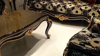 Lerona Black Classic Furniture Set -  Classic luxury furniture - الأثاث الكلاسيكي التركي