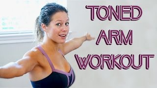 Lean, Toned Arm Workout for Beginners | How to get Strong, Tank Top Arms at Home, with Dena
