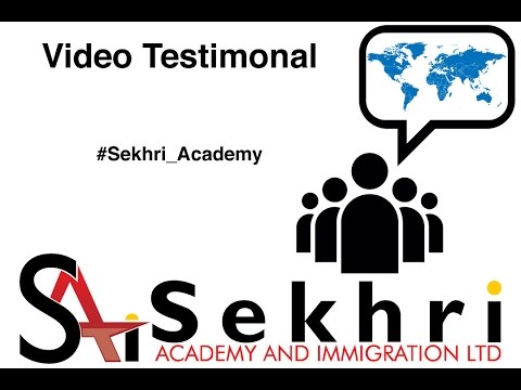 AjayKundal and SoniaGorkha - Video Testimonial to Sekhri Academy and Immigration