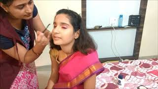 Jhansi Ki Rani Makeup For school Fancy Dress Competitionझांसी की रानी  मेकअप /using ponds bb cream