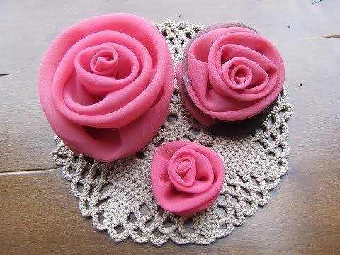 Цветок роза из ткани своими руками
