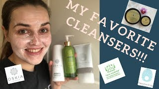 My favourite facial cleansers! Including Oskia, Tata Harper, Omorovicza and more!!