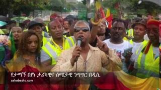 Tamagn Beyene FANTASTIC Speech at Washington DC Demonstration