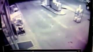Drunk Man Runs Into Gas Station Door