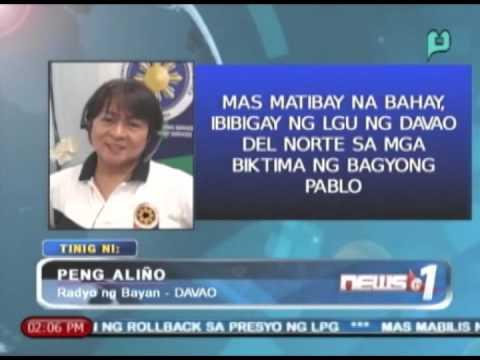 Mas matibay na bahay, ibibigay ng LGU ng Davao del Norte sa mga biktima ng Bagyong Pablo