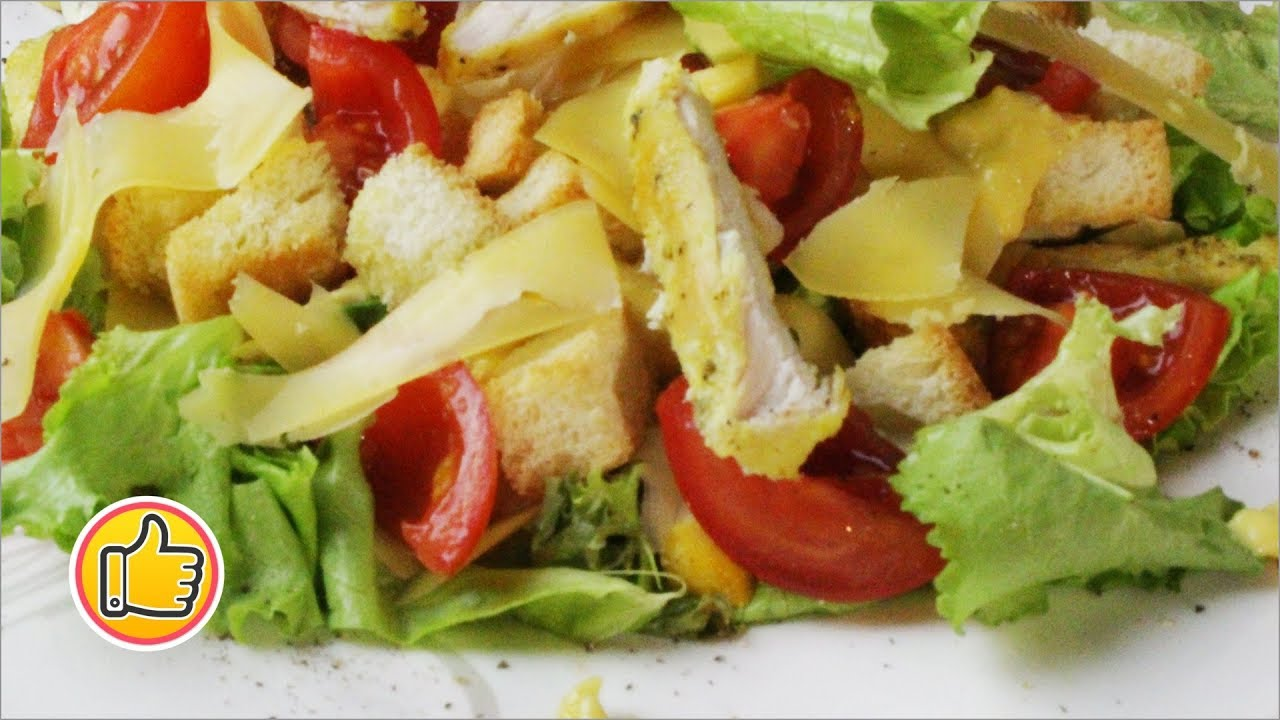 Рецепт вкусного салата цезарь с курицей с