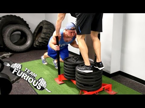 Heavy Prowler / Squats Fitness Workout | Furious Pete Image 1