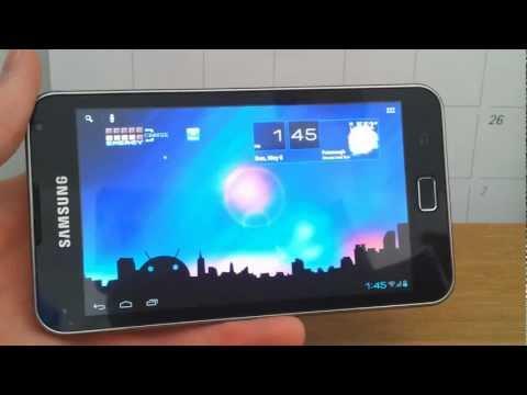 ICS AOKP Tablet Mode UI on Samsung Galaxy WiFi/Player 5.0 [HD]