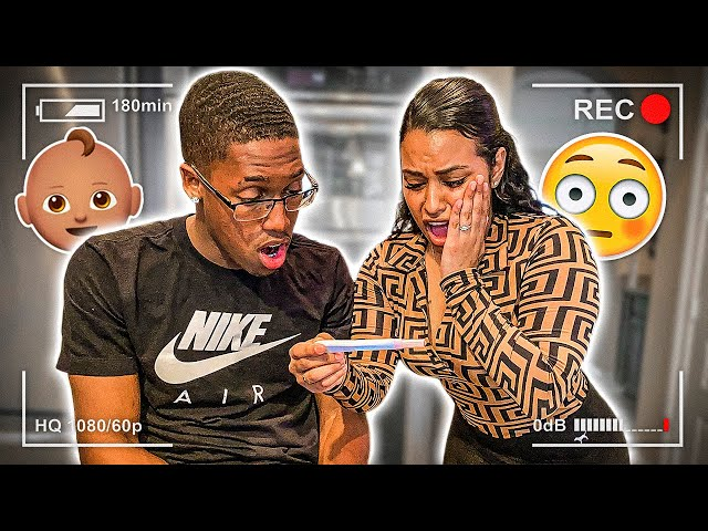 TAKING A PREGNANCY TEST ON CAMERA 😍 thumbnail