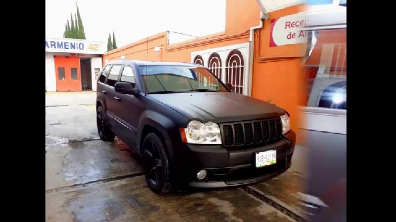 "2013 Jeep Cherokee >> Pintura Negro Mate JEEP SRT8 ""CENTRO ARMENIO 42"" - YouTube"
