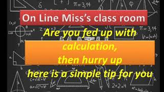 Easy way to find squares, maths tips, maths for LDC,LP UP, and for competitive exams- On Line Miss's