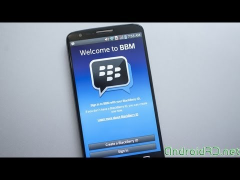 Tutorial Blackberry Messenger (BBM) Para Android - AndroidRD