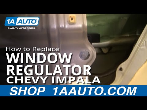 How To Install Remove Broken REAR Power Window Regulator Chevy Impala 00-05 1AAuto.com