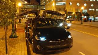 Tesla Holiday Light Show in windy downtown Norfolk, VA | Trans Siberian Orchestra