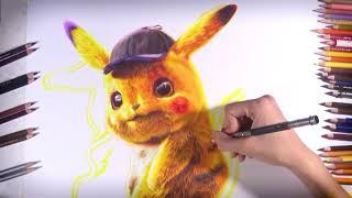 "Drawing Pikachu  from ""POKÉMON Detective Pikachu""   vh art"