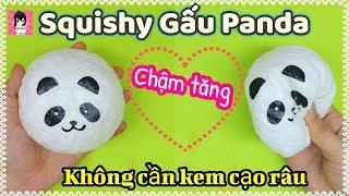 """Cách làm Squishy PANDA """"CHẬM TĂNG"""" dễ dàng+ tiết kiệm/ Panda Squishy Tutorial / Ami DIY"""