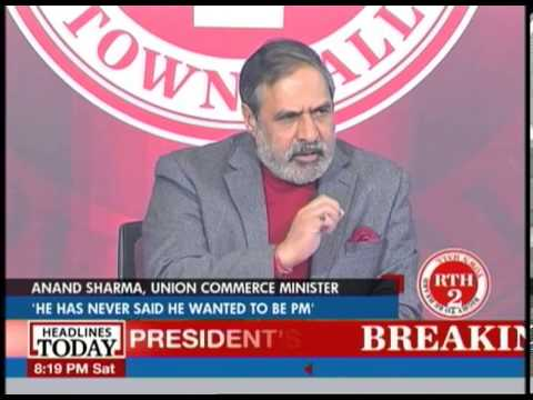 Right to Be Heard: Anand Sharma takes questions