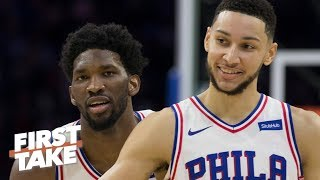 Joel Embiid needs Ben Simmons 'to reach the pinnacle of greatness' - Stephen A. | First Take