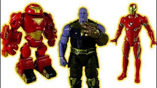 Go Marvel Iron Man Toy, Hulkbuster Toy! Thanos, Dinosaur appeared again! Defeat them! - LotsMoreToys