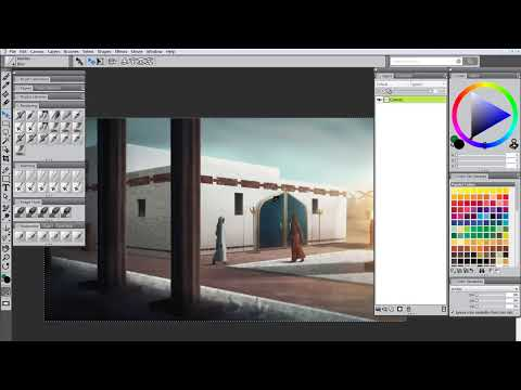How to Re-size Artwork Onto A New Canvas (Painter X3)
