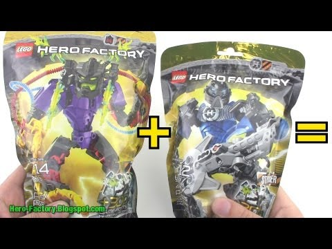Hero Factory Stringer + Voltix combiner Speed Build (Breakout wave 2)