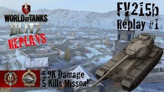 World of Tanks Blitz Replays - FV215b Gameplay #1