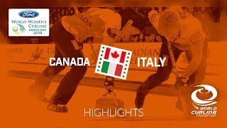 HIGHLIGHTS: Canada v Italy – Round-robin – Ford World Women's Curling Championship 2018