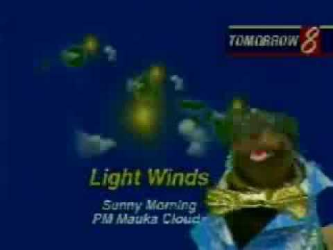 Triumph the insult comic dog does the Hawaiian weather