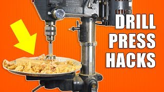 5 Quick DRILL PRESS Hacks - Woodworking Tips and Tricks