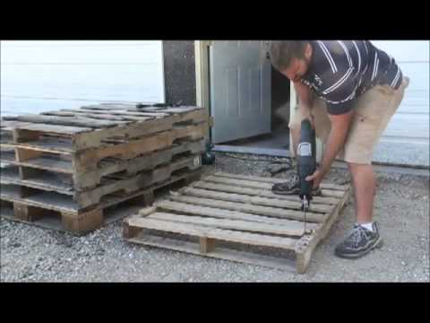 How to dismantle wood pallets youtube for How to make stuff out of wooden pallets