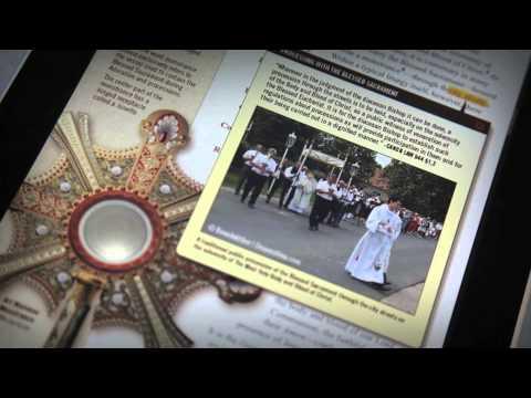 Roman Catholic Mass Explained iPad app, Interactive Journey into Catholic Liturgy