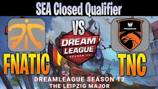FNATIC vs TNC Predator | Bo3 | SEA Closed Qualifier DreamLeague Season 13 | NO CASTER | Dota 2 Pro