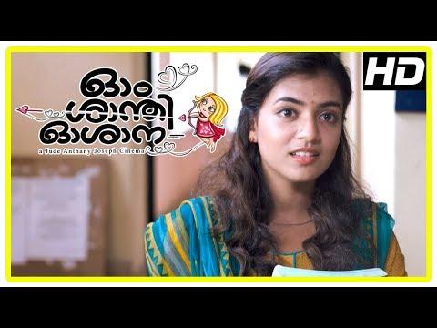 Ohm Shanthi Oshaana Movie Scenes | Vineeth encourages Nazriya to propose Nivin again | Lal Jose