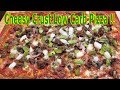 Homemade Cheesy Crust LOW CARB Supreme Pizza !! - BEST EVER LOW CARB PIZZA RECIPE - The Wolfe Pit