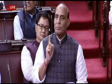 Kashmir mayhem is Pakistan-sponsored: Rajnath Singh in RS