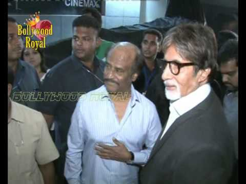 Rajnikanth, Amitabh Bachchan & others at the Hindi curtain raiser  of the film 'Kochadaiiyaan' 1